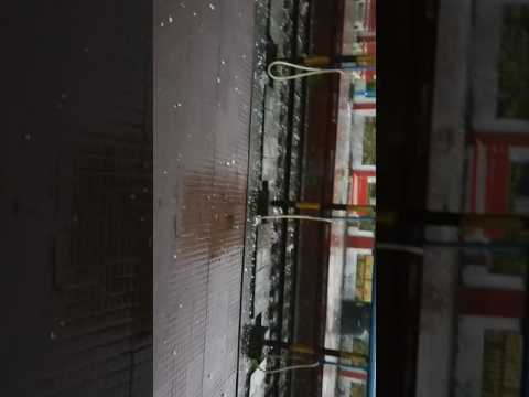 Snowfall in kolkata (dangerous hailstorm )
