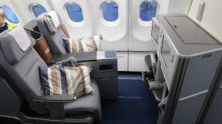 Lufthansa A330 Business Class Frankfurt to Maldives (unusual takeoff)