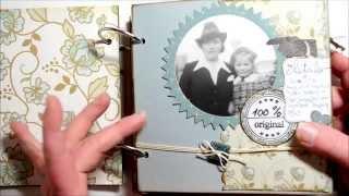 Scrapbook Mini Album Vintage Foto Album Selbst Gemacht Basteln Mit
