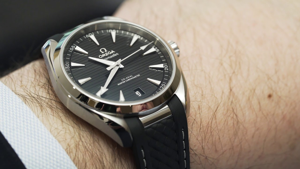 Omega Seamaster Aqua Terra 150m On Rubber Strap Youtube