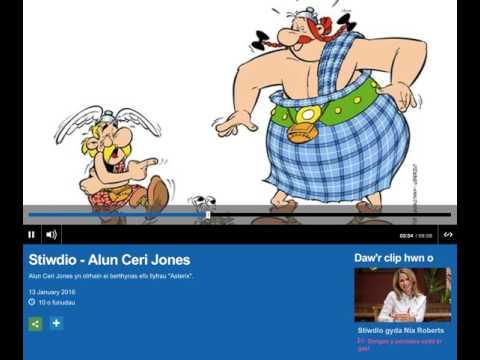 Asterix Stiwdio Radio Cymru Ionawr 2016