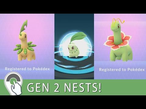 Gen Nest Hunting For Meganium Full Evolution Chain Chikorita Bayleef Meganium Evolution