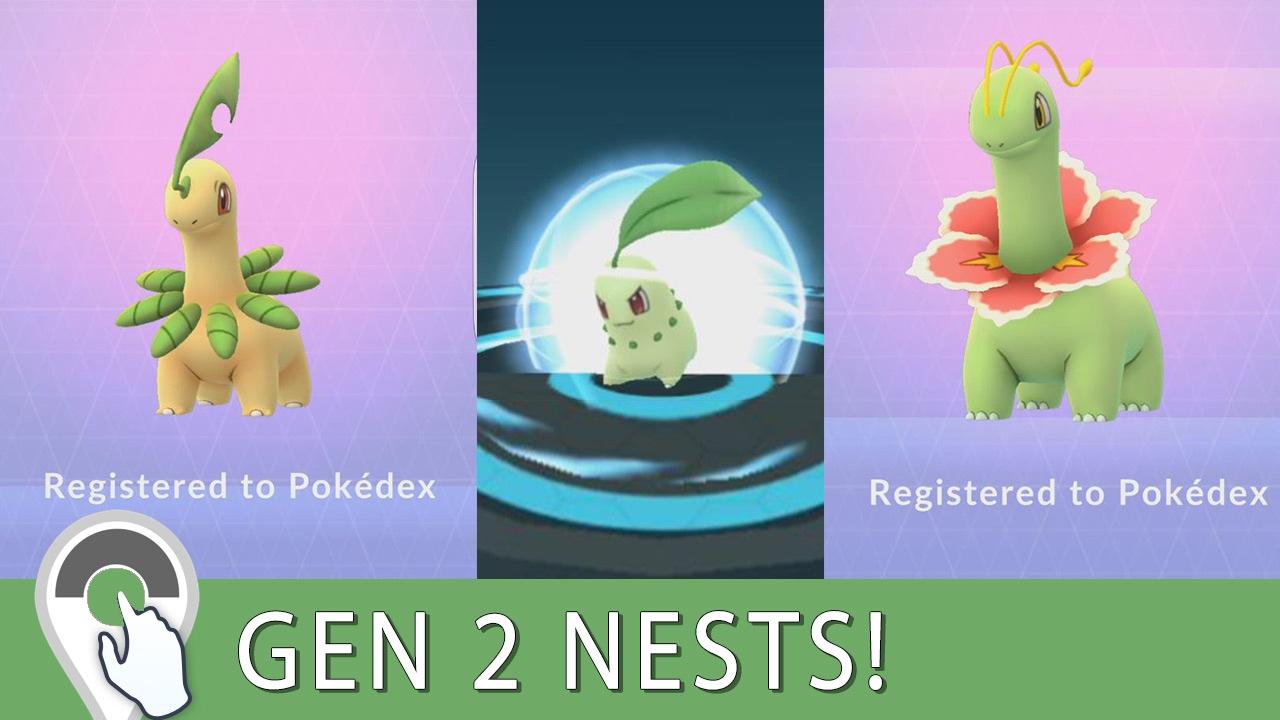 Bayleef Evolution Gen 2 Nest Hunt...