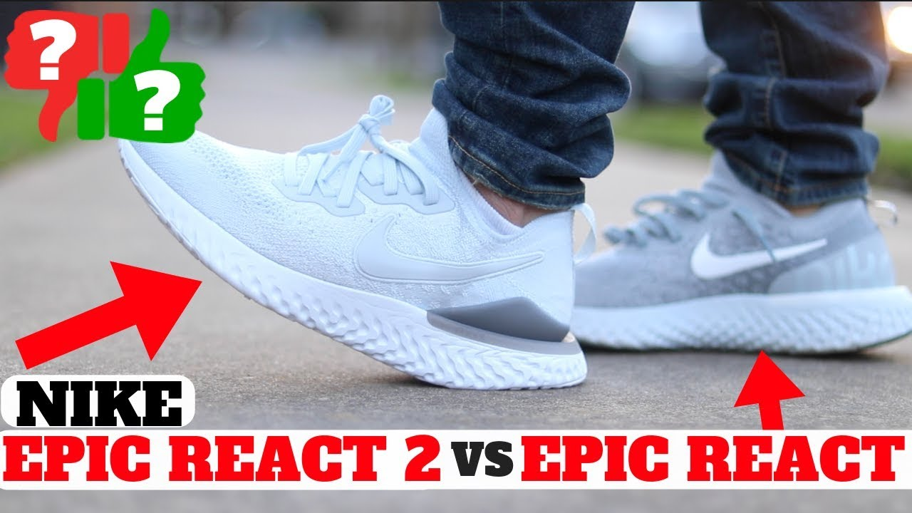 55350ecefcd0b NOT Worth Buying  Nike EPIC REACT FLYKNIT 2 vs Epic React REVIEW ...