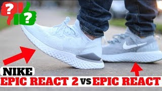 NOT Worth Buying? Nike EPIC REACT FLYKNIT 2 vs Epic React REVIEW