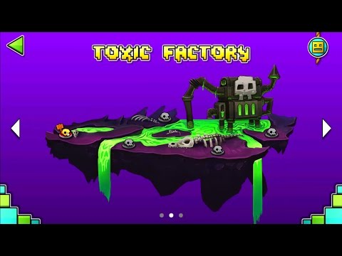 GEOMETRY DASH WORLD | COMPLETANDO TOXIC FACTORY | Enriquemovie