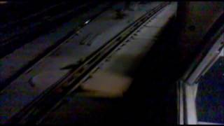 3rd rail electric trains + Snow = Mega Sparks!