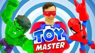 Шоу Той Мастер - Человек Паук и Халк в видео с супергероями!
