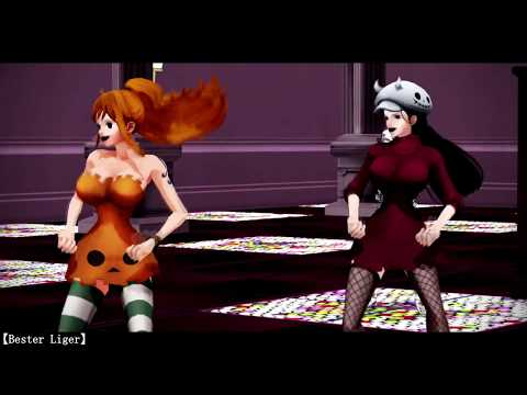 【MMD ONE PIECE 】💀 Happy Halloween 💀 Cellphone Paranoia Girl /被害妄想携帯女子