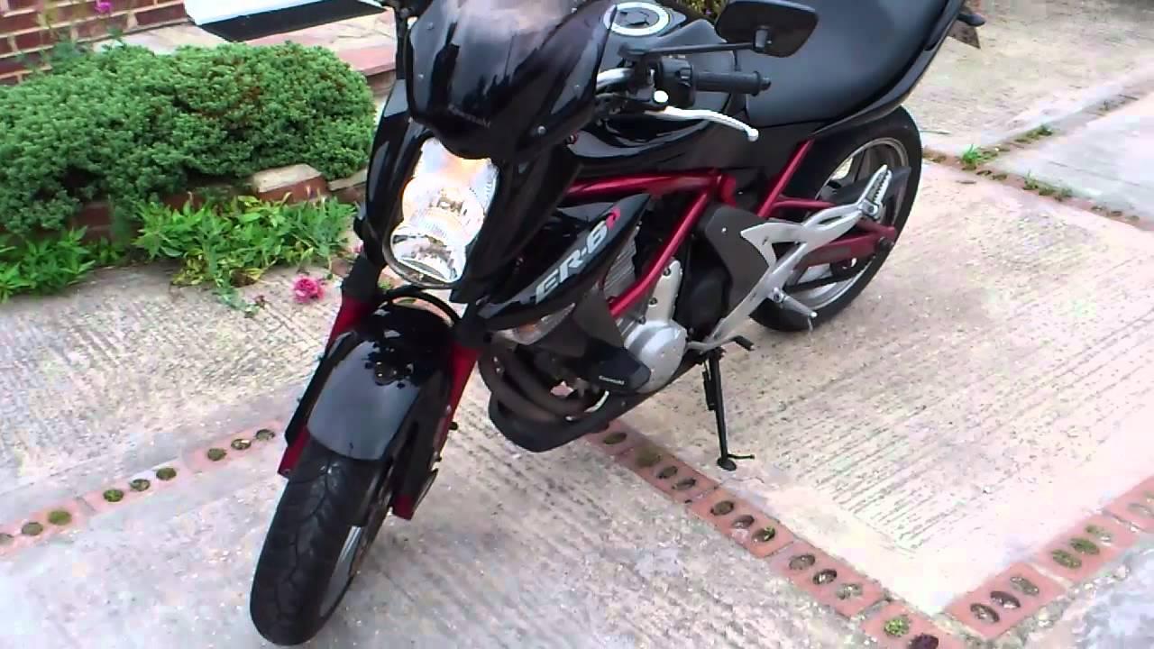 2007 Kawasaki Er6n 650 A7f Black Youtube