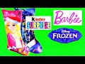 Barbie Frozen Kinder Surprise Transformers Elsa Christmas Stocking Surprise Eggs StrawberryJamToys
