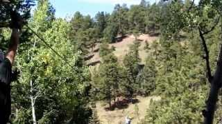 The 6 Zip Line Adventure over valleys and through pine forest - video 1