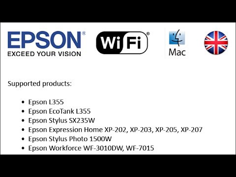 How to set-up Epson printers to use Wi-Fi 2013 (Mac EN)