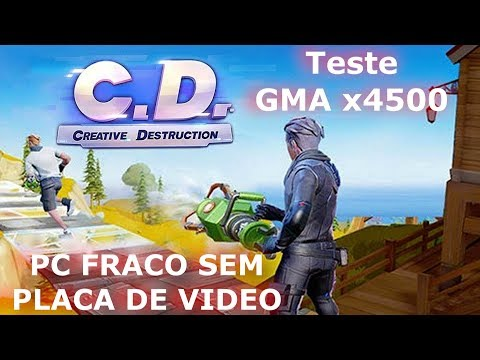 CREATIVE DESTRUCTION TESTE GMA X4500 4500M PERFORMANCE PC DESKTOP FRACO SEM PLACA DE VÍDEO 2019