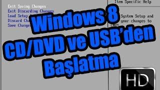 Windows 8 CD/DVD Ve Usb'den Başlatma Video