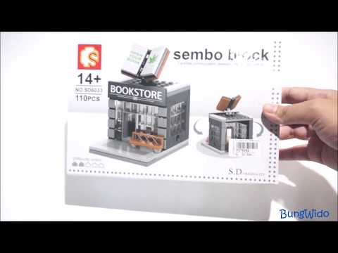 Sembo Block Bookstore Unboxing and Speed Build - INDONESIA
