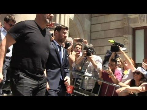 Lionel Messi leaves Barcelona Court