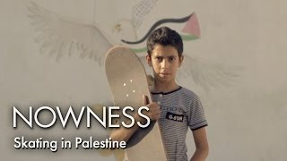 Skateboarding around Palestine