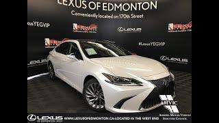 White 2019 Lexus ES 350 Ultra Luxury Package Review Edmonton Alberta - Lexus of Edmonton New