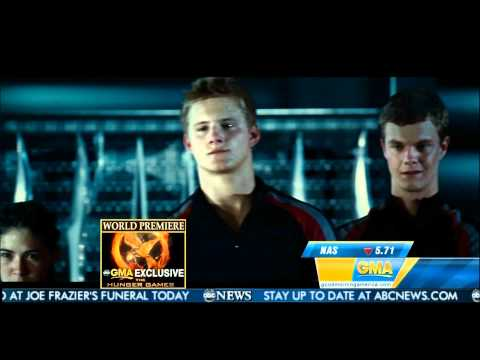 Josh Hutcherson Presents the Hunger Games Trailer on Good Morning America (HQ)