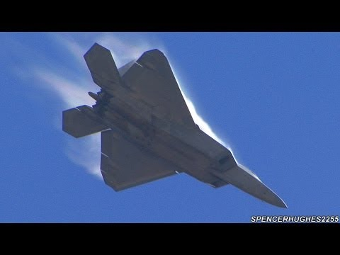 2012 MCAS Miramar Air Show - F-22 Raptor Demo Team & U.S.A.F. Heritage Flight