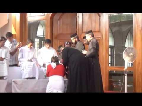 Feet Washing service by HH Catholicos at Mar Elia Cathedral, Kottayam