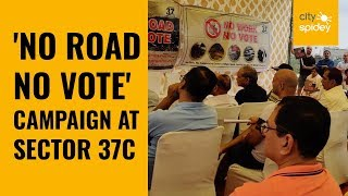 Protesters launch 'No Road No Vote' campaign in Gurugram