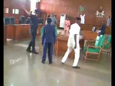 Nigerian Law Makers Exchanging Blows