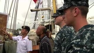 Indonesian Tall Ship Visits Pearl Harbor