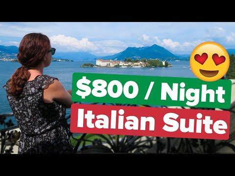 Luxury Lakeside Suite in Italy. Better than Lake Como!? Hotel Villa e Palazzo Aminta + Lake district