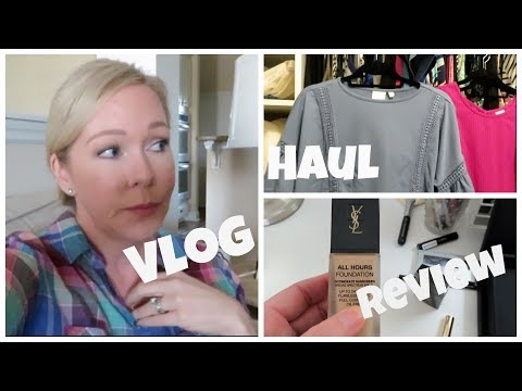 Vlog | Foundation Review & Fall Clothing Haul