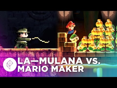 La-Mulanas Takumi Naramura Builds a Super Mario Maker Level - Devs Make Mario