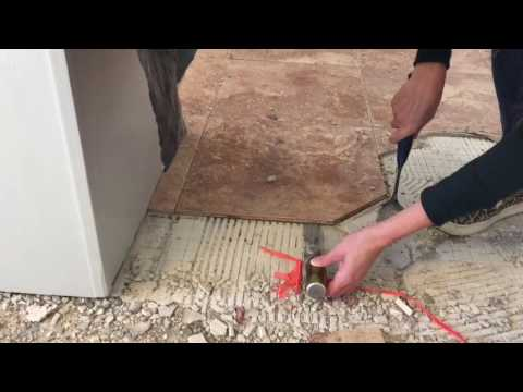 Tile Mortar And Lathe From A Subfloor