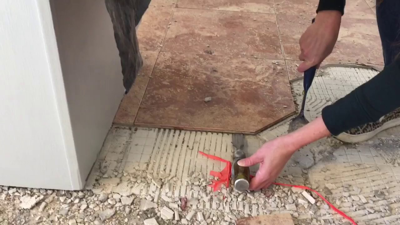 How to remove tile mortar and lathe from a subfloor  YouTube