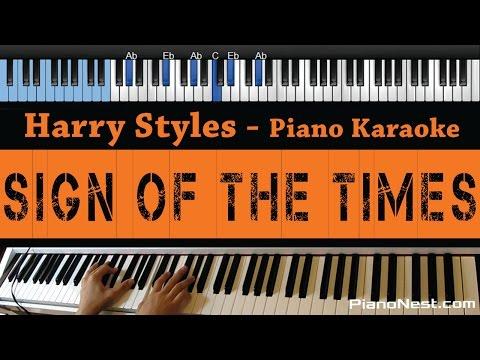 Harry Styles - Sign of The Times - LOWER Key (Piano Karaoke / Sing Along)