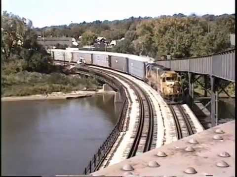 Baby BNSF at Fort Madison, IA 10/1996