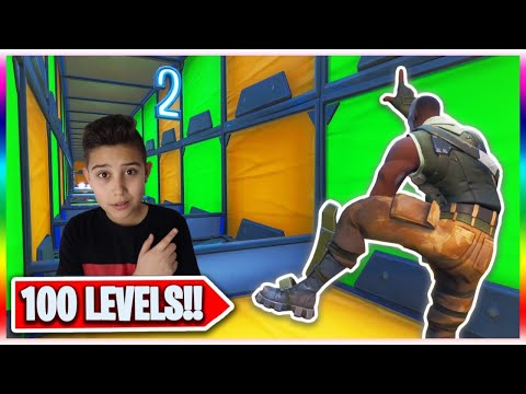 100 LEVEL PARCOUR In FORTNITE BATTLE ROYALE GESCHAFFT !!!