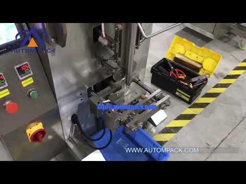 Automatic Liquid Ketchup Paste Fuit Juice Water Tomato Sauce Sachet Packing Machine#Autompack