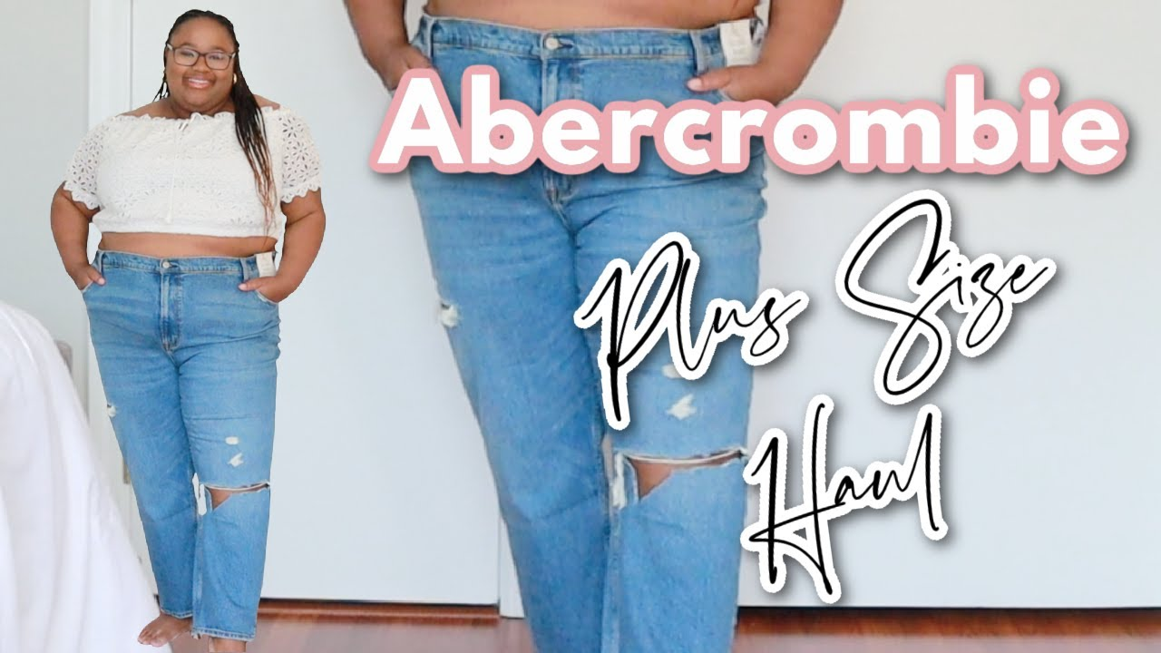 Abercrombie CURVE LOVE Plus Size Jeans + Shorts👖 First Impressions Try-ON HAUL