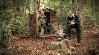 Off Grid Cabin in the Forest - Roast Chestnuts, Woodstove (Camp in the Woods)