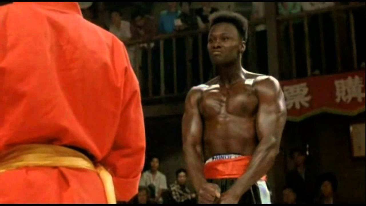 asian guy vs black guy fight