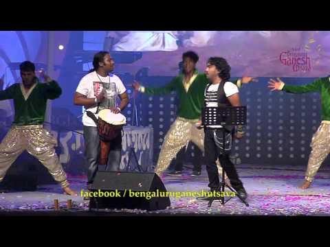 """""""Sri Anjaneyam"""" song by Arjun Janya @ 53rd Bengaluru Ganesh Utsava..!!!"""