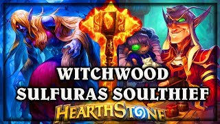 Azaliina Southeif and Dollmaster Dorian get Sulfuras ~ Witchwood Hearthstone