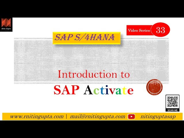 Introduction to SAP Activate