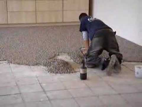 How they pour Aggregate floors