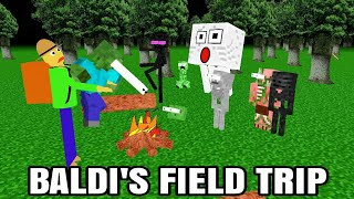 Monster School Baldi' basic FIELD TRIP Minecraft Animation