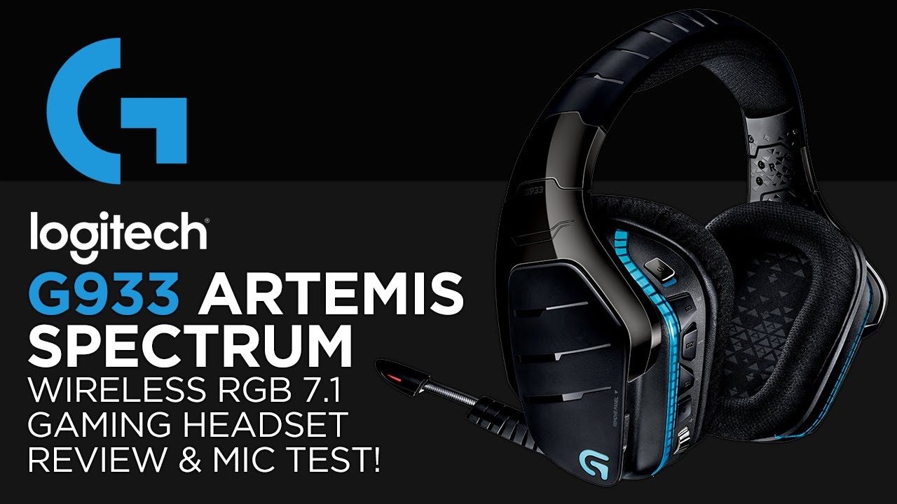 f45187bd2db Logitech G933 Artemis Spectrum Wireless RGB 7.1 Gaming Headset Review &  Microphone Test! - YouTube