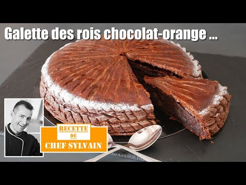 galette-des-rois-chocolat-orange---recettes-épiphanie-par-chef-sylvain-!
