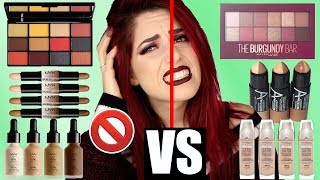 NYX vs. MAYBELLINE💥 Full Face Drogerie Makeup Vergleich DUPES! Was ist besser? Luisacrashion