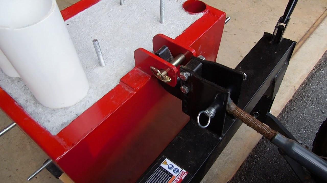 titan ballast box quick hitch issue